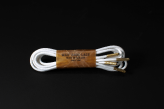 120cm WAX' SHOE LACE -ROUND-/WHITE