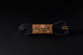 120cm  WAX' SHOE LACE  -FLAT-/ BLACK