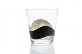 うるしのロックグラス 銀黒