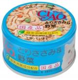 〈CIAO ホワイティ(とりささみシリーズ)〉とりささみ&野菜 48缶