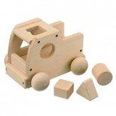 MOCCO 森のメロディートラック(曲名:ミッキーマウスマーチ) 安心安全 日本製の木のおもちゃ