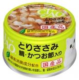 〈CIAO ホワイティ(とりささみシリーズ)〉とりささみ 鯛・かつお節入り 48缶