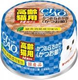 〈CIAO 年齢別 子猫/シニア〉14歳からのかつお&おかか(かつお節) 48缶