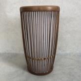 竹籠キャンドル 水玉