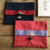 日本唯一!富士山をあしらった豪華御朱印帳袋『富士百彩』(畳縁使用) 富士ひのき御朱印帳【巓】姉妹品