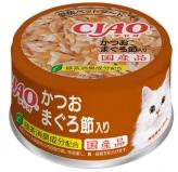 〈CIAO ホワイティ(かつお白身シリーズ)〉かつお まぐろ節入り 48缶