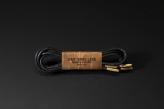 120cm  WAX' SHOE LACE -ROUND- / BLACK