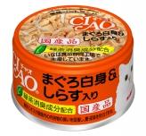 〈CIAO ホワイティ(まぐろ白身シリーズ)〉まぐろ白身&しらす入り 48缶