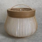 竹籠キャンドル 小町