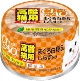 〈CIAO 年齢別 子猫/シニア〉14歳からのまぐろ白身&しらす入り 48缶