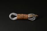120cm WAX' SHOE LACE -ROUND-/ LIGHT GRAY