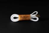 120cm WAX' SHOE LACE  -FLAT-/WHITE