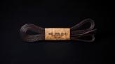 120cm WAX' SHOE LACE / DARK BROWN