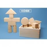 コイデ コルク積木26ピース 安心安全 日本製の木のおもちゃ