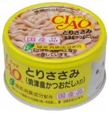 〈CIAO ホワイティ(とりささみシリーズ)〉とりささみ(焼津産かつおだし入り) 48缶