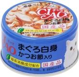 〈CIAO ホワイティ(まぐろ白身シリーズ)〉まぐろ白身 かつお節入り 48缶