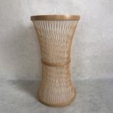 竹籠キャンドル 鼓