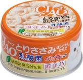 〈CIAO 乳酸菌〉とりささみ ほたてだし仕立て 48缶