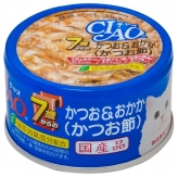 〈CIAO 年齢別 子猫/シニア〉7歳からのかつお&おかか(かつお節) 48缶