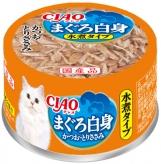 〈CIAO 水煮タイプ〉まぐろ白身 かつお・とりささみ 48缶