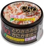 〈CIAO ホワイティ(とりささみシリーズ)〉とりささみ&かにかまぼこ 48缶