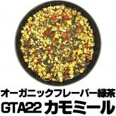 フレーバー緑茶 GTA22カモミール 大サイズ100g缶 オーガニックハーブ×富士山緑茶 フルーティー