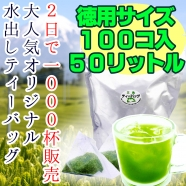徳用 大サイズ ゴクゴク飲みたい水出し煎茶 専門店の冷茶ティーバッグ 5gパック 100個入