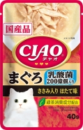 〈CIAOパウチ〉乳酸菌入り まぐろ ささみ入り ほたて味 96袋
