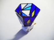 ステンドグラスナイトランプ 青