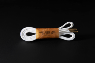 120cm WAX' SHOE LACE  -FLAT-/WHITE