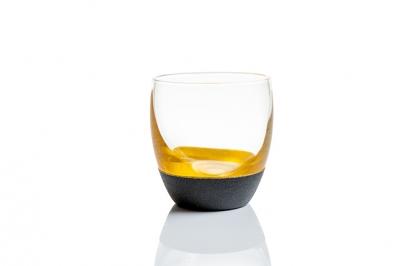 うるしの酒盃 丸型/金黒
