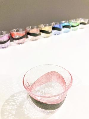 色箔の酒器 (淡ピンク)
